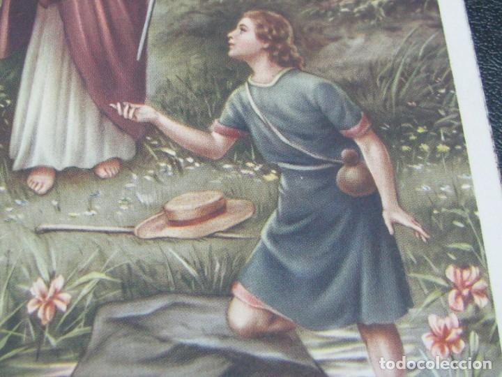 Postales: POSTAL RELIGIOSA SAN RAFAEL ARCÁNGEL. BORDES DORADOS principios de siglo XX - Foto 3 - 177673012