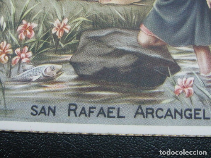 Postales: POSTAL RELIGIOSA SAN RAFAEL ARCÁNGEL. BORDES DORADOS principios de siglo XX - Foto 4 - 177673012