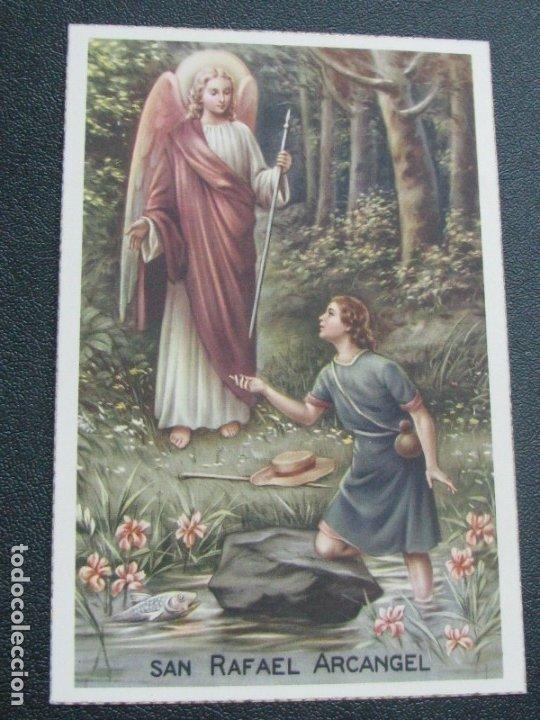 POSTAL RELIGIOSA SAN RAFAEL ARCÁNGEL. BORDES DORADOS PRINCIPIOS DE SIGLO XX (Postales - Postales Temáticas - Religiosas y Recordatorios)