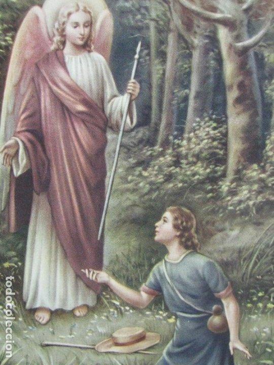 Postales: POSTAL RELIGIOSA SAN RAFAEL ARCÁNGEL. BORDES DORADOS principios de siglo XX - Foto 5 - 177673012