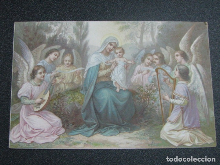 Postales: POSTAL RELIGIOSA CROMOLITOGRAFÍA DE PRINCIPIOS DE SIGLO XX - Foto 2 - 177673247