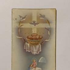 Postales: RECUERDO DE PRIMERA COMUNIÓN EN LA IGLESIA NTRA. SRA DE LA SEO DE JATIVA. AÑO 1955.. Lote 177718597