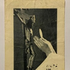 Postales: RECORDATORIO BODAS DE DIAMANTE EN LA IGLESIA COLEGIAL DE JATIVA. AÑO 1958.. Lote 177718684
