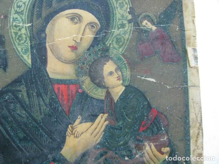 Postales: LOTE DE 2 ANTIGUAS ESTAMPAS RELIGIOSAS VIRGEN DEL PERPETUO SOCORRO , VALENCIA - Foto 3 - 177806657