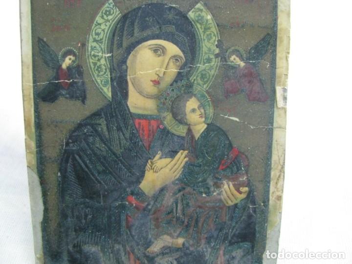 Postales: LOTE DE 2 ANTIGUAS ESTAMPAS RELIGIOSAS VIRGEN DEL PERPETUO SOCORRO , VALENCIA - Foto 4 - 177806657