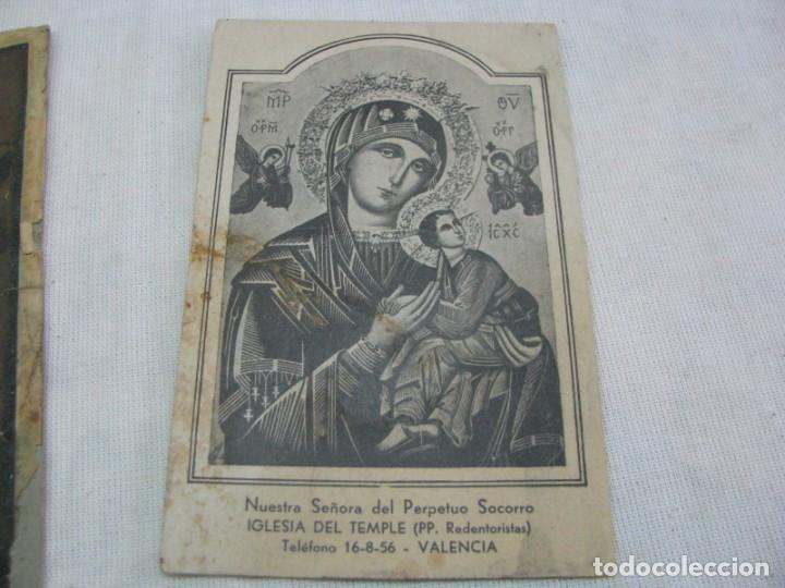 Postales: LOTE DE 2 ANTIGUAS ESTAMPAS RELIGIOSAS VIRGEN DEL PERPETUO SOCORRO , VALENCIA - Foto 5 - 177806657