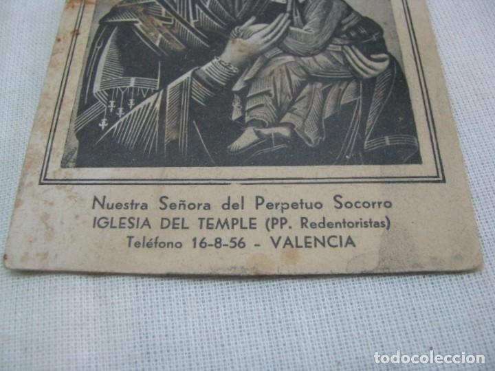 Postales: LOTE DE 2 ANTIGUAS ESTAMPAS RELIGIOSAS VIRGEN DEL PERPETUO SOCORRO , VALENCIA - Foto 7 - 177806657