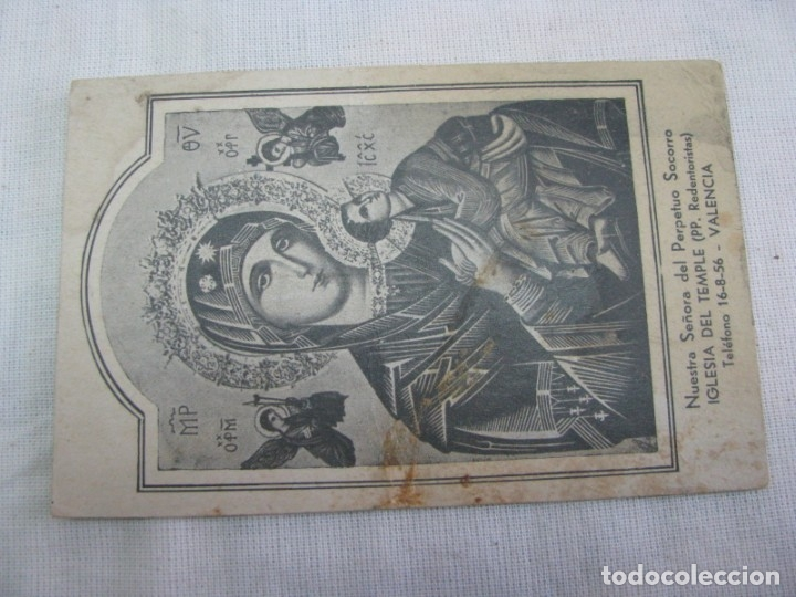 Postales: LOTE DE 2 ANTIGUAS ESTAMPAS RELIGIOSAS VIRGEN DEL PERPETUO SOCORRO , VALENCIA - Foto 10 - 177806657