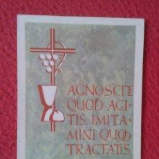 Postales: TARJETA ESTAMPA RELIGIOSA RECORDATORIO RELIGIOSO ORDENACIÓN SACERDOTAL PRIMERA MISA 1959 MONTSERRAT. Lote 178105775