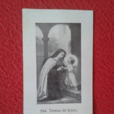 Postales: TARJETA ESTAMPA RECORDATORIO RELIGIOSO 1928 SANTA TERESA DE JESÚS MISIÓN GENERAL REDENTORISTAS RR PP. Lote 178132622