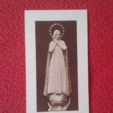 Postales: TARJETA ESTAMPA RELIGIOSA RECORDATORIO RELIGIOSO N.D. DEL ROSER DE BARCELONA PURÍSIMA VIRGEN IMATGE. Lote 178168202
