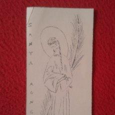 Postales: TARJETA ESTAMPA RELIGIOSA RECORDATORIO RELIGIOSO SANTA AGNES PROFESSIÓ TEMPORAL 1961 VER FOTOS Y DES. Lote 178170683