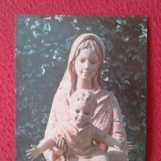 Postales: TARJETA TIPO POSTAL ESTAMPA RELIGIOSA RECORDATORIO RELIGIOSO APOSTOLADO LITÚRGICO CURSO 1984-1985.... Lote 178172453