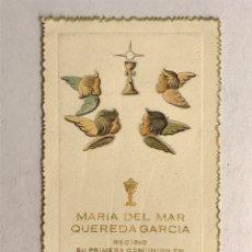 Postales: CARCAGENTE (VALENCIA) RECUERDO PRIMERA COMUNION... COLEGIO DE MARÍA INMACULADA (A.1952). Lote 178308856