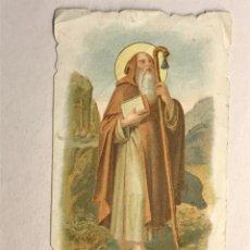 Postales: SAN ANTONIO ABAD. ESTAMPA RELIGIOSA TROQUELADA (H.1950?). Lote 178309617