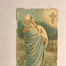 Postales: MATER SALVATORIS . ESTAMPA RELIGIOSA TROQUELADA (H.1950?). Lote 178309651