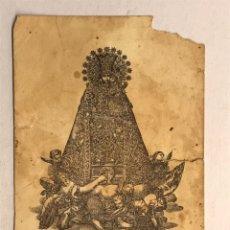 Postales: NUESTRA SEÑORA DE LOS DESAMPARADOS. PEQUEÑA LITOGRAFÍA P. ROCA (DAÑADA ESQUINA SUPERIOR). Lote 178309826