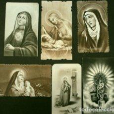 Postales: 6 ANTIGUAS ESTAMPAS RECORDATORIOS - VIRGEN MARIA - LA MILAGROSA, CASA BAÑERES - HUECOGRABADO. Lote 178367937