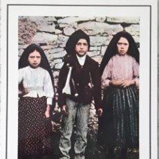 Postales: LOS PASTORCILLOS DE FÁTIMA. FOTO VERIDICA EN FORMATO POSTAL. AÑOS 50.. Lote 178710201