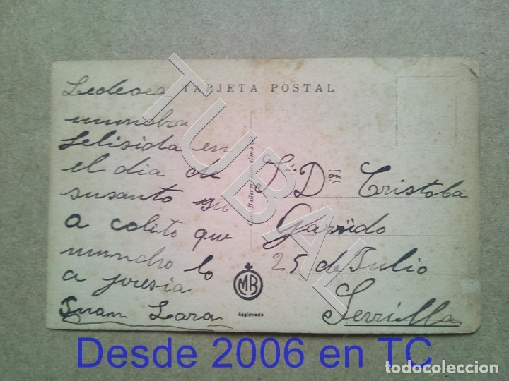 Postales: TUBAL POSTAL ESTAMPA ANTIGUA BAÑERAS ENVIO 2019 70 CTMS B04 - Foto 2 - 178776991