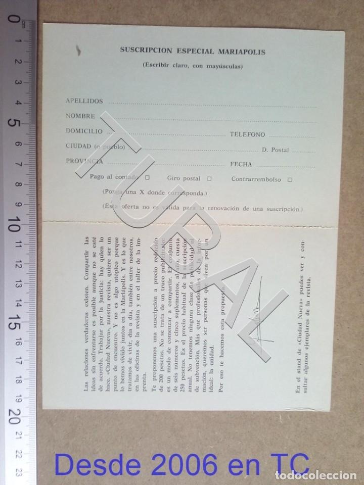 Postales: TUBAL MARIAPOLIS DIPTICO ESTAMPA ANTIGUA ENVIO 2019 70 CTMS B04 - Foto 2 - 178787616