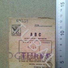 Postales: TUBAL SUSCRIPCION AL ABC ESTAMPA ANTIGUA ENVIO 2019 70 CTMS B04. Lote 178787992