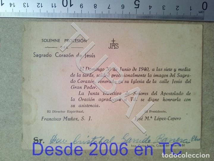 TUBAL PROCESION CRISTOBAL GARRIDO 1940 ESTAMPA ANTIGUA ENVIO 2019 70 CTMS B04 (Postales - Postales Temáticas - Religiosas y Recordatorios)