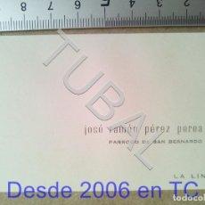 Postales: TUBAL TARJETA DE VISITA PARROCO SAN BERNARDO LA LINEA ESTAMPA ANTIGUA ENVIO 2019 70 CTMS B04. Lote 178789281