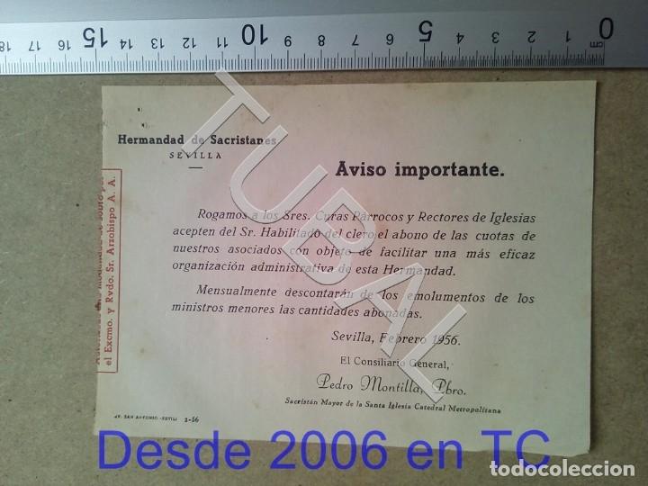 TUBAL HERMANDAD DE SACRISTANES SEVILLA ESTAMPA ANTIGUA ENVIO 2019 70 CTMS B04 (Postales - Postales Temáticas - Religiosas y Recordatorios)