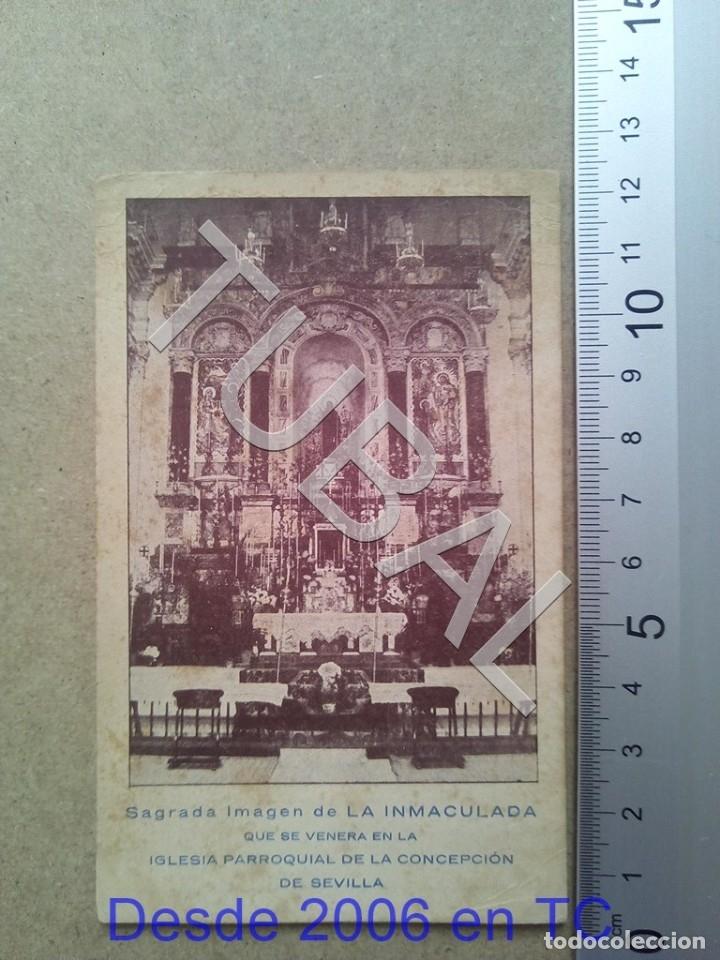 TUBAL PARROQUIA DE LA CONCEPCION SEVILLA 1941 ESTAMPA ANTIGUA ENVIO 2019 70 CTMS B04 (Postales - Postales Temáticas - Religiosas y Recordatorios)