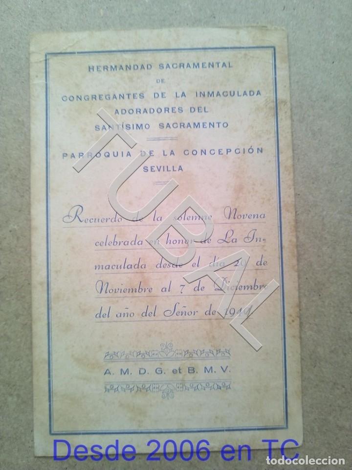 Postales: TUBAL PARROQUIA DE LA CONCEPCION SEVILLA 1941 ESTAMPA ANTIGUA ENVIO 2019 70 CTMS B04 - Foto 2 - 178789586