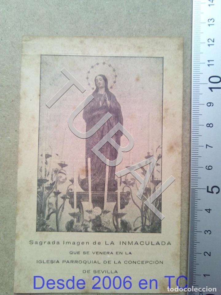 TUBAL PARROQUIA DE LA CONCEPCION SEVILLA 1945 ESTAMPA ANTIGUA ENVIO 2019 70 CTMS B04 (Postales - Postales Temáticas - Religiosas y Recordatorios)