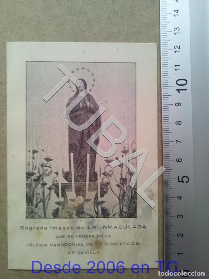 TUBAL PARROQUIA DE LA CONCEPCION SEVILLA 1948 ESTAMPA ANTIGUA ENVIO 2019 70 CTMS B04 (Postales - Postales Temáticas - Religiosas y Recordatorios)