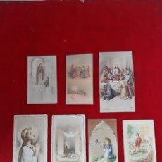 Postales: LOTE DE 7 ANTIGUOS RECORDATORIO DE PRIMERA COMUNIÓN LOS AÑOS 50 Y 60. Lote 178807888