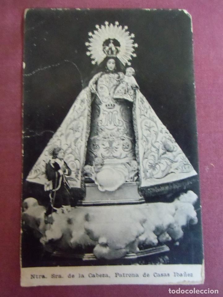 CASAS IBAÑEZ(ALBACETE)NTRA.SRA.DE LA CABEZA.POSTAL S/C. (Postales - Postales Temáticas - Religiosas y Recordatorios)