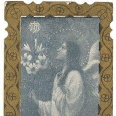 Postales: RECORDATORIO DE DEFUNCIÓN - PP SG XX - ANGEL CON RAMO DE FLORES.. Lote 178914322