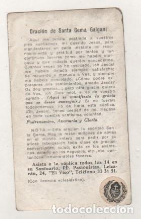 Postales: Verdadera imagen y Reliquia de Santa Gema Galgani. Oración en el reverso. - Foto 2 - 178920296