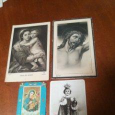 Postales: 4 ESTAMPAS RELIGIOSAS ANTIGUAS. Lote 178928493