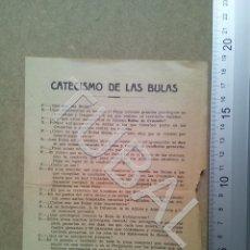 Postales: TUBAL 1936 CATECISMO DE LAS BULAS SANTA CRUZADA SEVILLA B04. Lote 178950433
