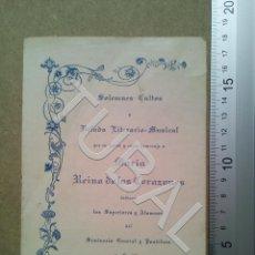 Postales: TUBAL 1912 SEVILLA INVITACION VELADA EN HONOR A MARÍA SEMINARIO B04. Lote 178951892