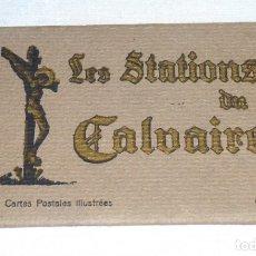 Postales: BLOC DE 14 POSTALES - LES STATIONS DU CALVAIRE - LOURDES. Lote 178986643