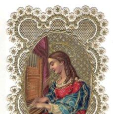 Postales: ELEGANTISIMA ESTAMPA - SG XIX - FINOS DORADOS Y PLATEADOS - DE COLECCIÓN.. Lote 178988721