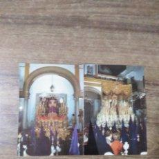 Postales: MFF.- ESTAMPA DOBLE RECORDATORIO.-SOLEMNE QUINARIO Y SEPTENARIO DE NTRO. PADRE JESUS DE LA SENTENCIA. Lote 179070368