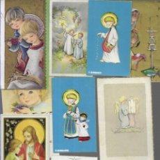 Postales: 100 RECORDATORIOS COMUNIÓN AÑOS 60 - IMPRESOS ,DIFERENTES ( 6 ). Lote 179956853