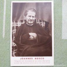 Postales: JOANNES BOSCO.FOTO-POSTAL EN SU VISITA A BARCELONA EN EL AÑO 1886. SIN CIRCULAR.. Lote 180149370