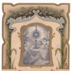 Postales: ANTIGUA ESTAMPA TROQUELADA - RECORD PRIMERA MISSA MOSSEN ENRIC GUITART CASAFONT - 1922. Lote 180160995