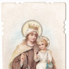 Postales: ANTIGUA ESTAMPA TROQUELADA - SANTA MARIA DE MONTE CARMELO. Lote 180161132