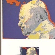 Postales: LICHTENSTEIN & MAXIMO POSTALE, PAPA JOÃO PAULO II , VADUZ 1983 (6688) . Lote 180164926