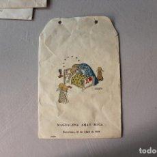 Postales: BOLSA RECORDATORIO BAUTIZO, 1959, LLIMONA. Lote 180166765
