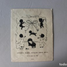 Postales: BOLSA RECORDATORIO BAUTIZO, 1955, MIN 51. Lote 180167716